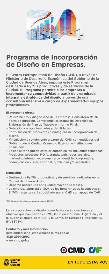 INCORPORACIÓN DE DISEÑO A EMPRESAS