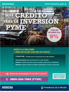 CRÉDITOS PARA LA INVERSIÓN PYME