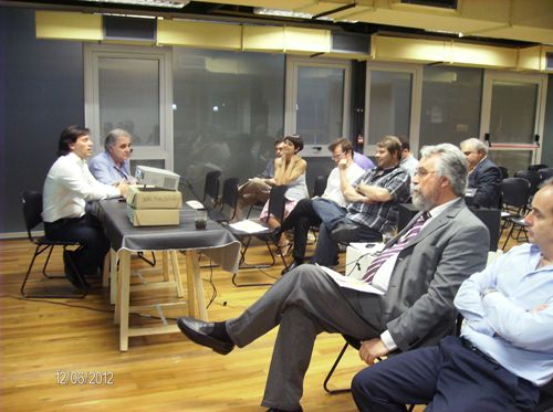 (b) Mg Javier Klyver MKT Cafydma y Juan Garat Gerente Cafydma presentación comisiones de trabajo plan 2013