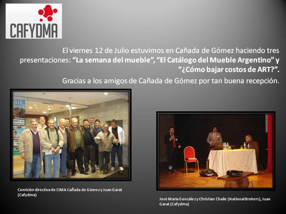 Presentación Cafydma en Cañada de Gómez Julio 2013
