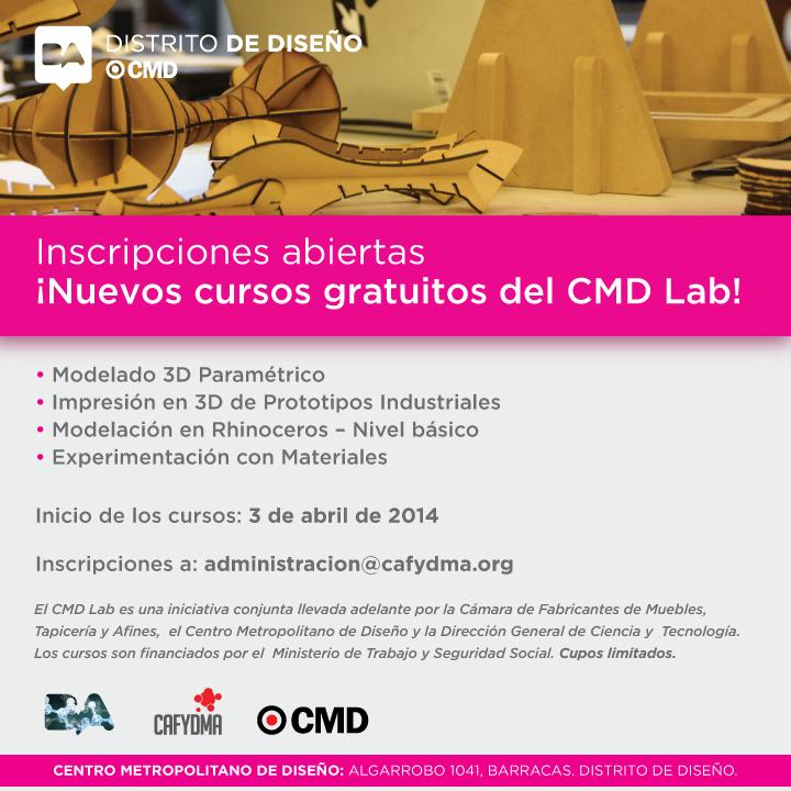 Nuevos cursos gratuitos de CAFYDMA - CMD LAB 2014