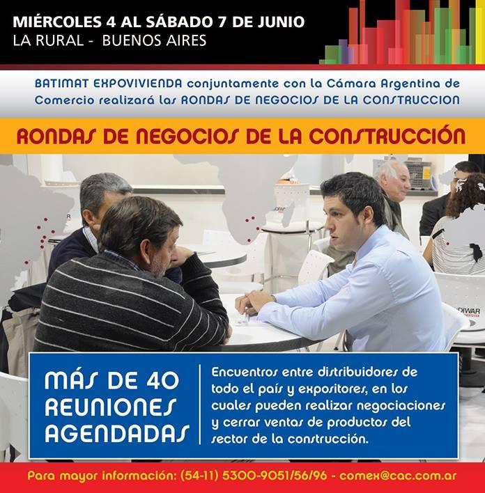 """BATIMAT EXPOVIVIENDA y la CAC realizarán las """"Rondas de Negocio de la Construcción"""" del 4 al 7 de junio en La Rural."""