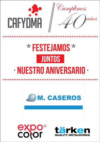 Cafydma 40 años Sponsors