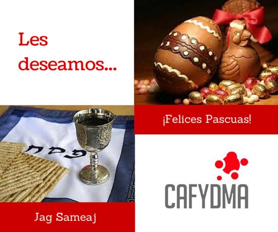 CAFYDMA les desea felices Pascuas y Jag Sameaj