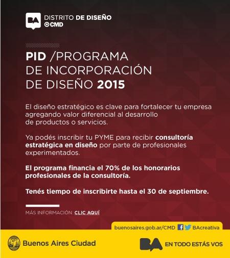 Programa de Incorporación de Diseño 2015
