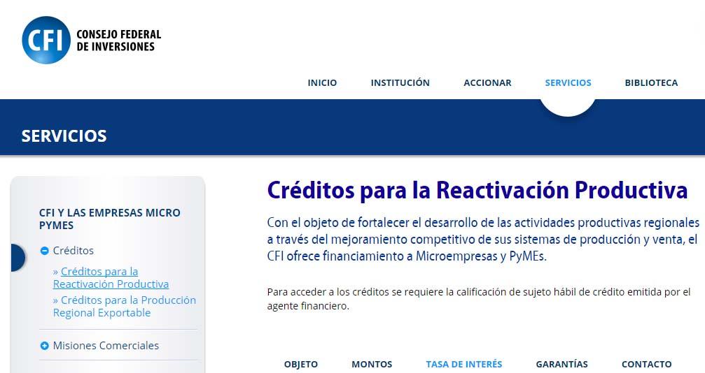 creditos para la reactivación productiva