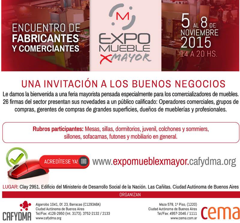 ExpoMueble x Mayor: invitación de CEMA y CAFYDMA