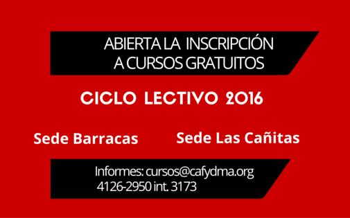 Abrió la inscripción a los cursos gratuitos de CAFYDMA de 2016