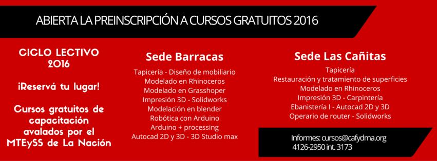 CURSOS GRATUITOS DE CAFYDMA EN 2016 - abierta la preinscripcion