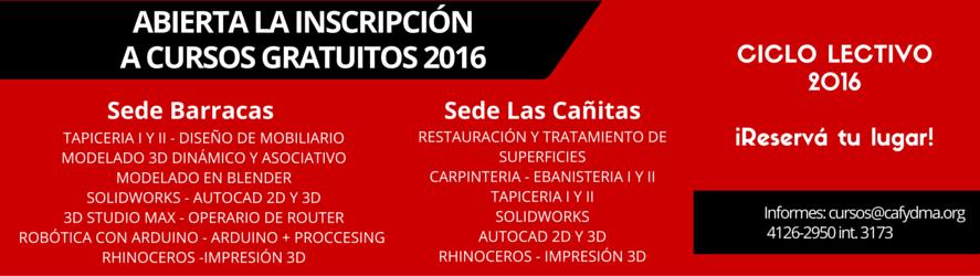 CURSOS GRATUITOS DE CAFYDMA EN 2016