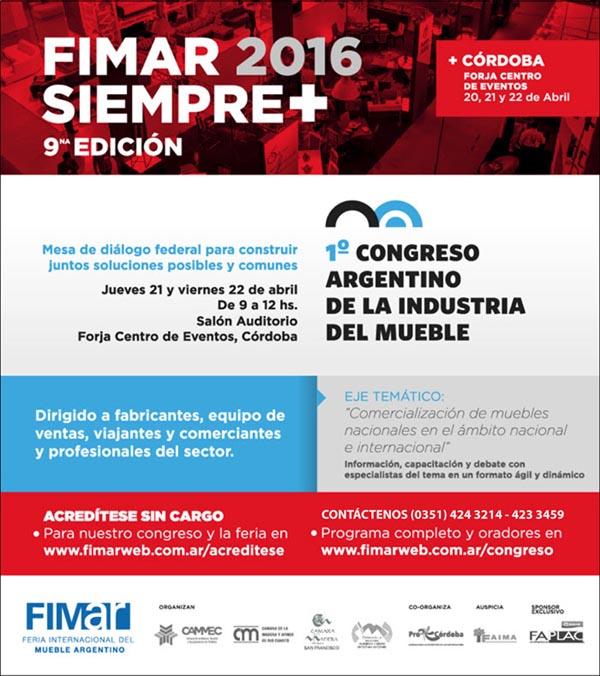 FIMAr 2016 y Primer Congreso Argentino de la Industria del Mueble