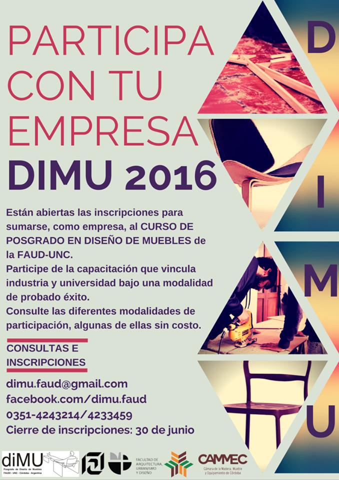 Curso de posgrado en diseño de muebles en la FAUD-UNC