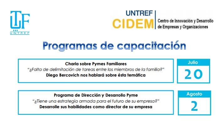 Programa de capacitación en la UNTref
