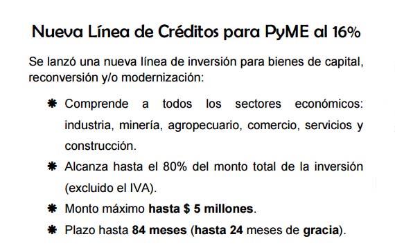 Nuevos créditos para PyMEs