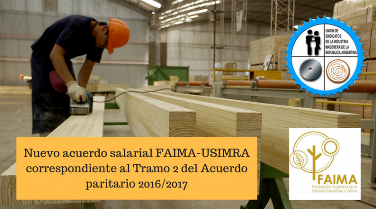 Nuevo acuerdo salarial FAIMA-USIMRA