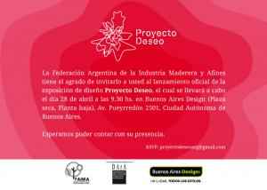 FAIMA invita al lanzamiento del Proyecto Deseo