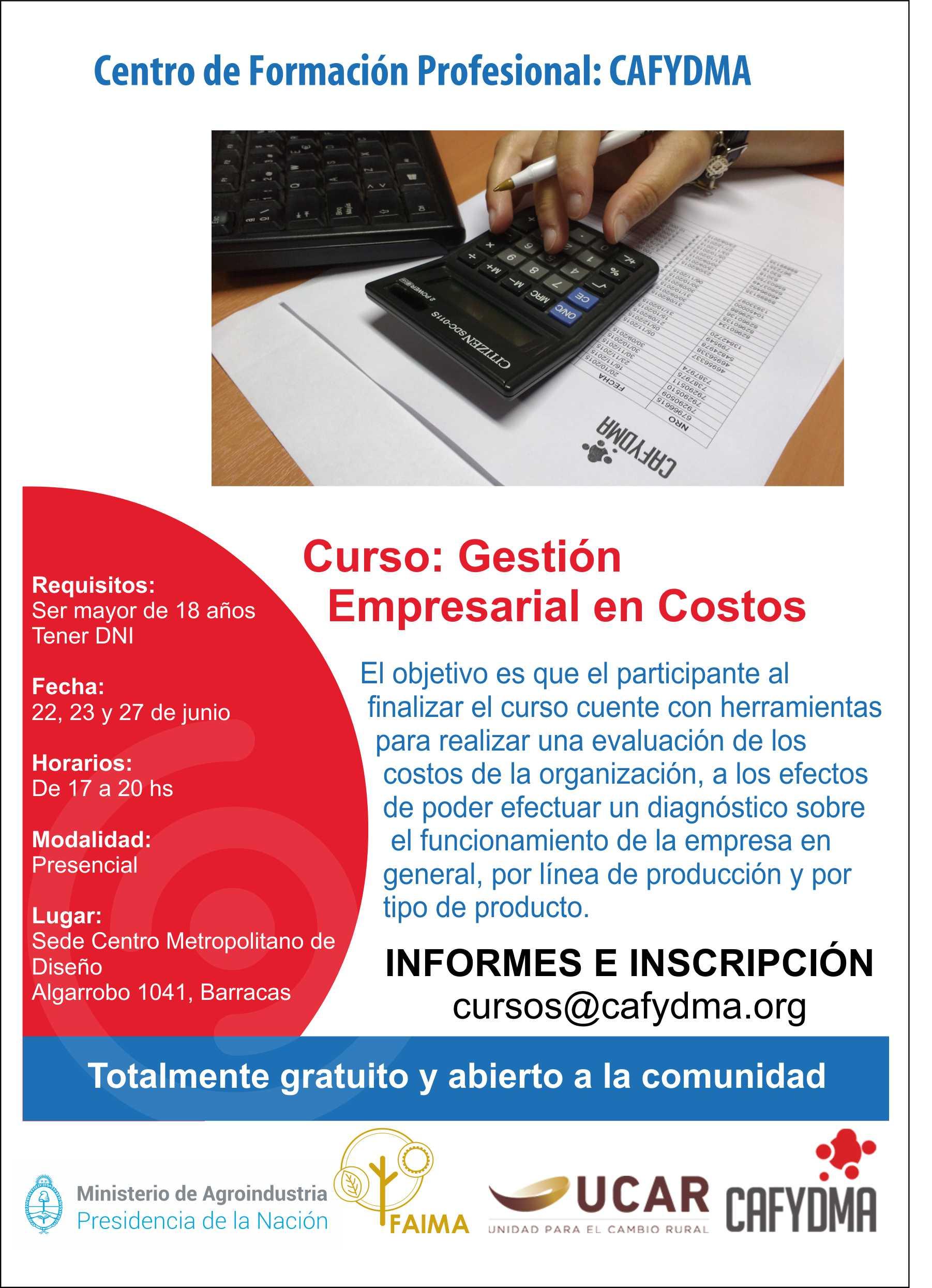 Cursos gratuito de Gestión Empresarial de costos